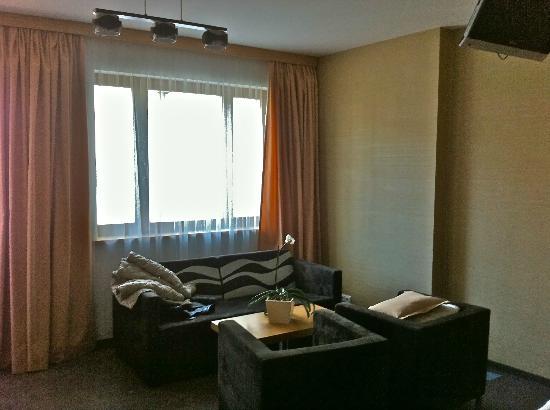 Hotel Danubia Gate Bratislava : salotto in camera