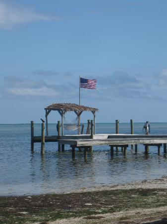The Moorings Village: Favorite hammock, under the tiki on the pier