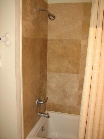 Riverview Hotel: Shower in Riverview room #19, the Okefenokee. Great water pressure, recently remodeled.
