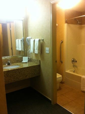 Holiday Inn Express Kelowna: Queen room bathroom