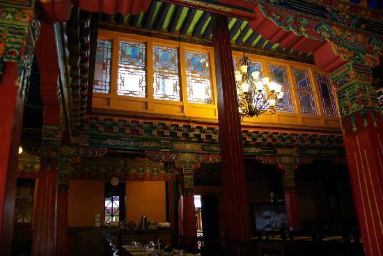 Yaoxi Pingkang Gujian Hotel: Schitterende eetzaal.