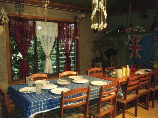 Danny's Village Homestay: The dining table where we ate the traditional feast