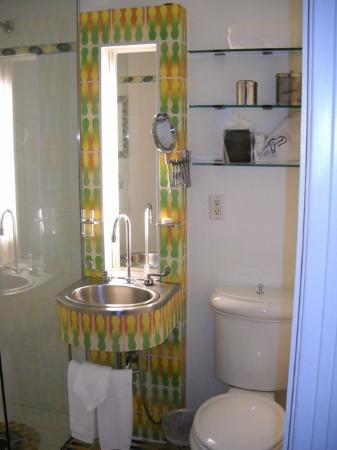 The Hotel of South Beach: their fun bathroom