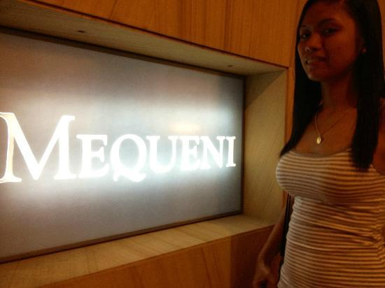 Mequeni Restaurant - TEMPORARILY CLOSED: My lovely model GF, Maricel.