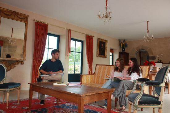 Manoir du Clos Clin : www.manoirclosclin.fr : bonne humeur dans la partie salon du séjour