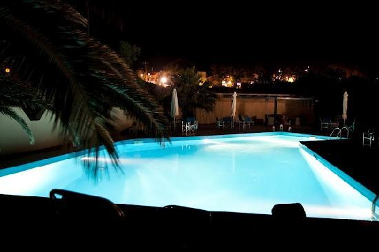 Melina Hotel pool at night