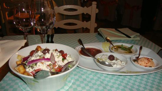 Le Vieux Village Restaurant: Salad and starters (all Cypriot starters)