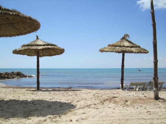 Club Jumbo Djerba : La plage de l'hôtel.