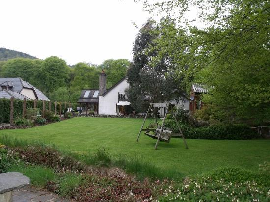 Tudor Lodge: view of the back yard