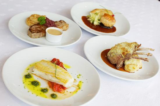 The Red Door Country House: Main course dishes