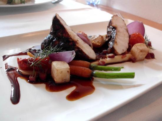 Avalon Restaurang: Monkfish with spring vegetables