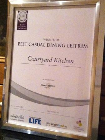 Courtyard Kitchen : Best Casual Dining Award