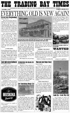 Trading Bay Dining Company: Trading Bay Times Spring 2012