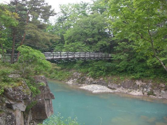 Ichinoseki, Japan: 吊り橋です