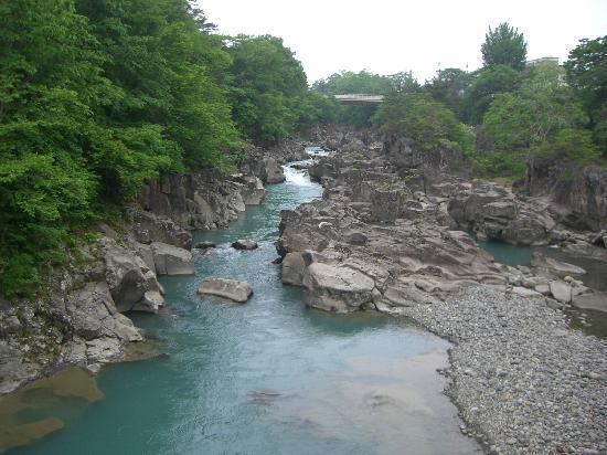 Ichinoseki, ญี่ปุ่น: 吊り橋からの景色です