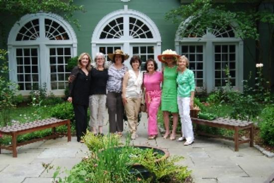 Goodstone Restaurant: The Great Falls Bookclub Enjoying the Courtyard