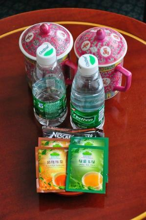 CITIC Hotel Beijing Airport : Complimentary water bottles (supplied daily), tea and coffee