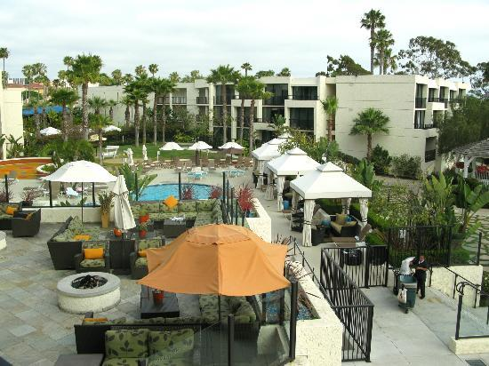 Newport Beach Marriott Hotel Spa The Main Pool From Terrace