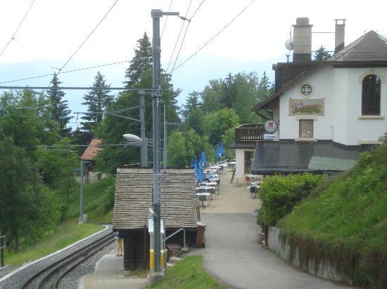 Blonay, Sveits: LALLY_Hotel LES SAPINS e fermata GoldenPass