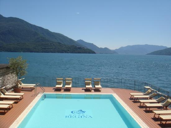 pool on Lake Como - Hotel Regina Gravedona