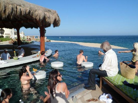The Resort at Pedregal: us at the swim up bar the frist day AWESOME