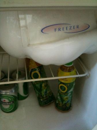 "Huong Bien Hotel: warm/broken fridge (so called ""mini bar"")"