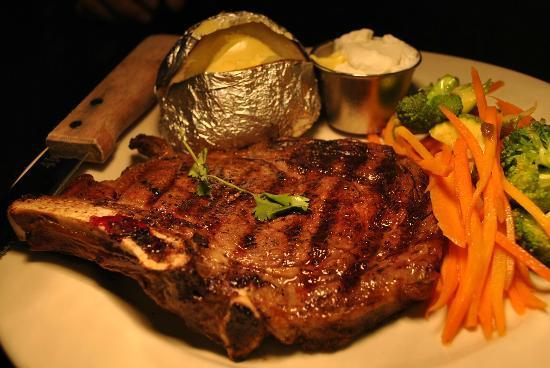 US Bar and Restaurant: Bone-In Rib-Eye, delicious