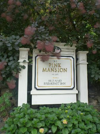 The Pink Mansion: Sign