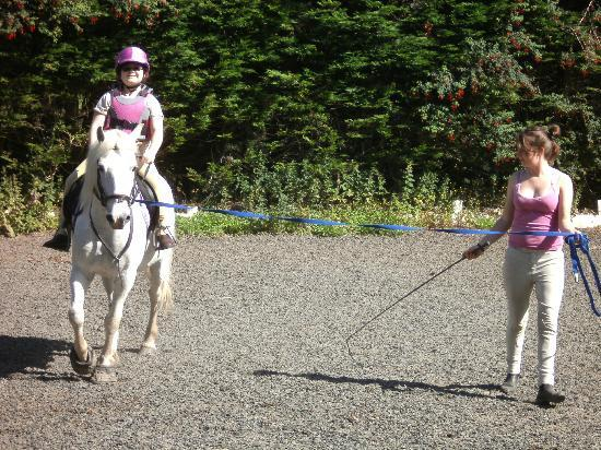 Bantry Pony Trekking: Cerys and Star being put through their paces.