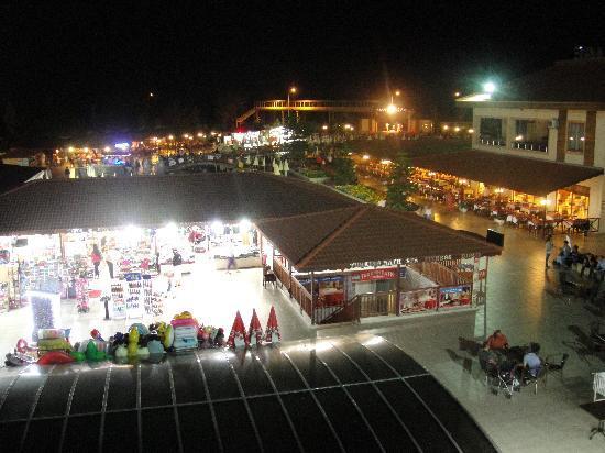 Eftalia Holiday Village: Main Pool and Bar at Night