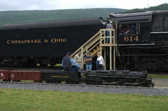 C & O Railway Heritage Center: Engineer looking for Conductor's highball!