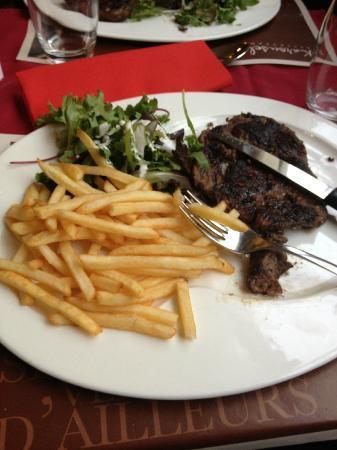 Kyriad Metz Centre : entrecote frites