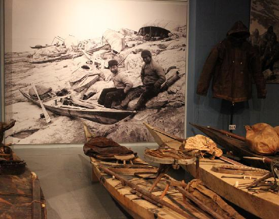 National Greenland Museum and Archives: incredible collection of qajaqs and umiaks