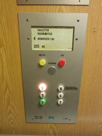 Hotelli Finn: elevator of hotel