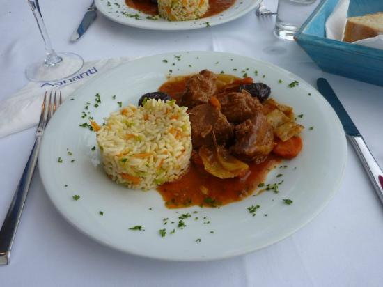 Agnanti Restaurant : Traditional pork dish with Skopelos prunes
