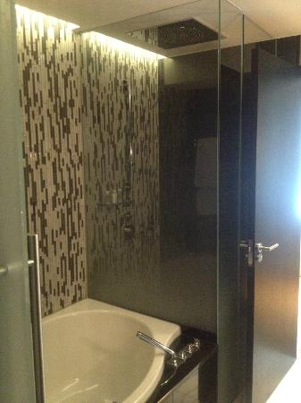 Schweizerhof Hotel & Spa: Room - bath&shower