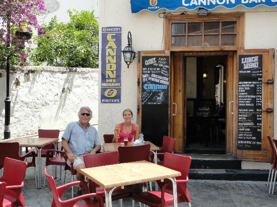 Fish chips picture of cannon bar gibraltar tripadvisor for Cannon fish company