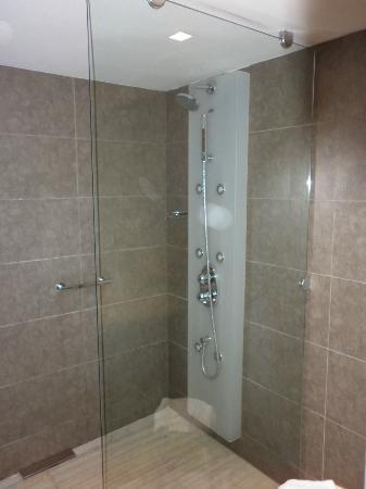 Magnolia Hotel: ducha de la habitación