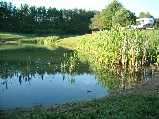 Top of The Caves Campground: Fishing pond