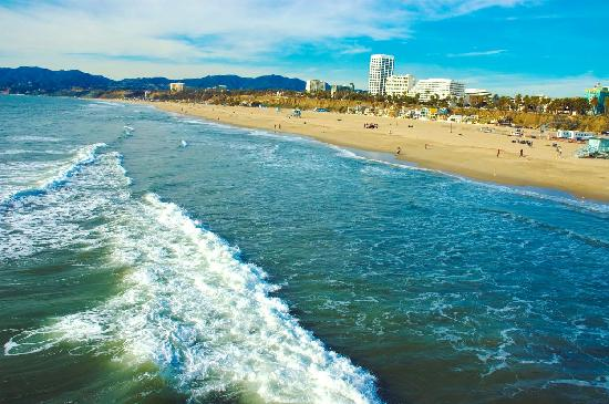 Coastline view of Santa Monica, California - Photo by Sondra Stocker
