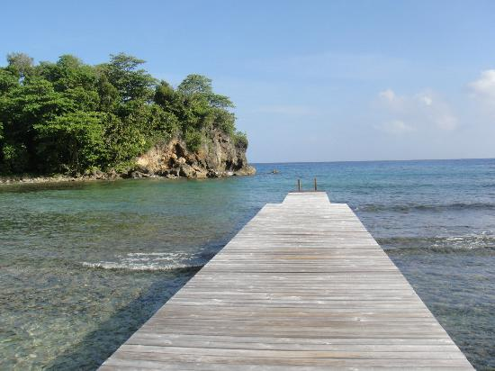 The Resort at Wilks Bay: Private dock, great snorkeling!