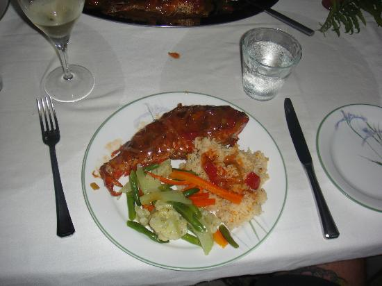 The Resort at Wilks Bay: Parrotfish was delicious, we requested it whole.