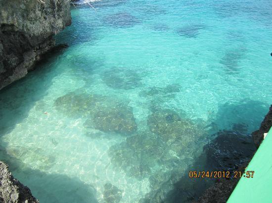 Xtabi Resort: Beautiful Caribbean Sea, so blue