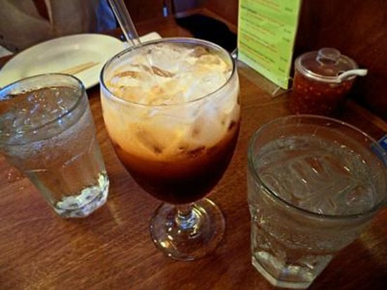 Moon and Turtle: Thai iced tea with coconut milk topping
