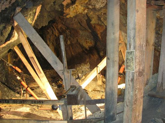 Broken Boot Gold Mine: a view of the tunnel