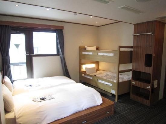Ueno Touganeya Hotel: 4 beds rooms