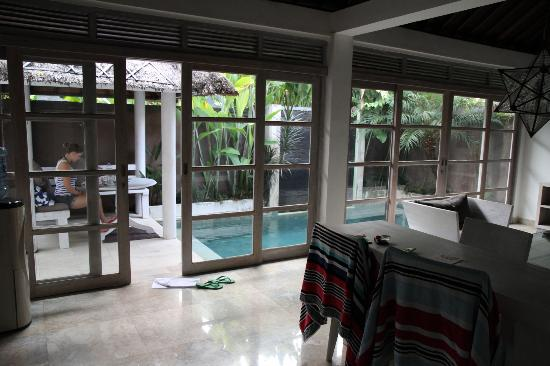 Villa Bali Kubu Rama: looking out towards the plunge pool