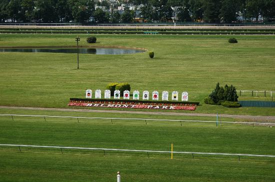 Belmont Park Race Track: Triple Crown winning silks
