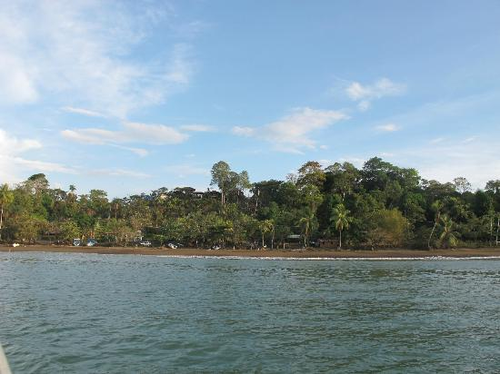 Casita Corcovado: Drake Bay, as we are arriving by Boat