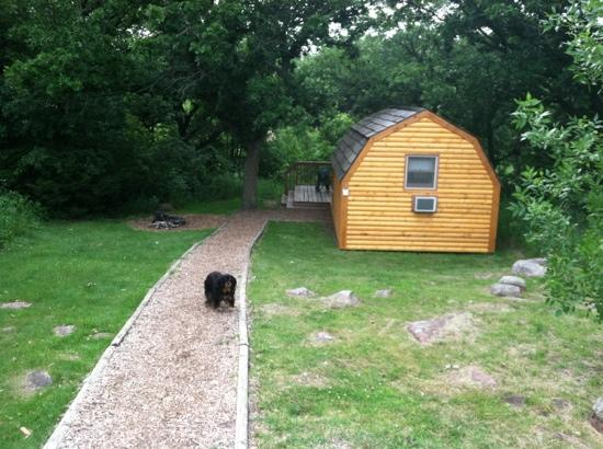 Palisades State Park: our comfortable cabin for 2 nights